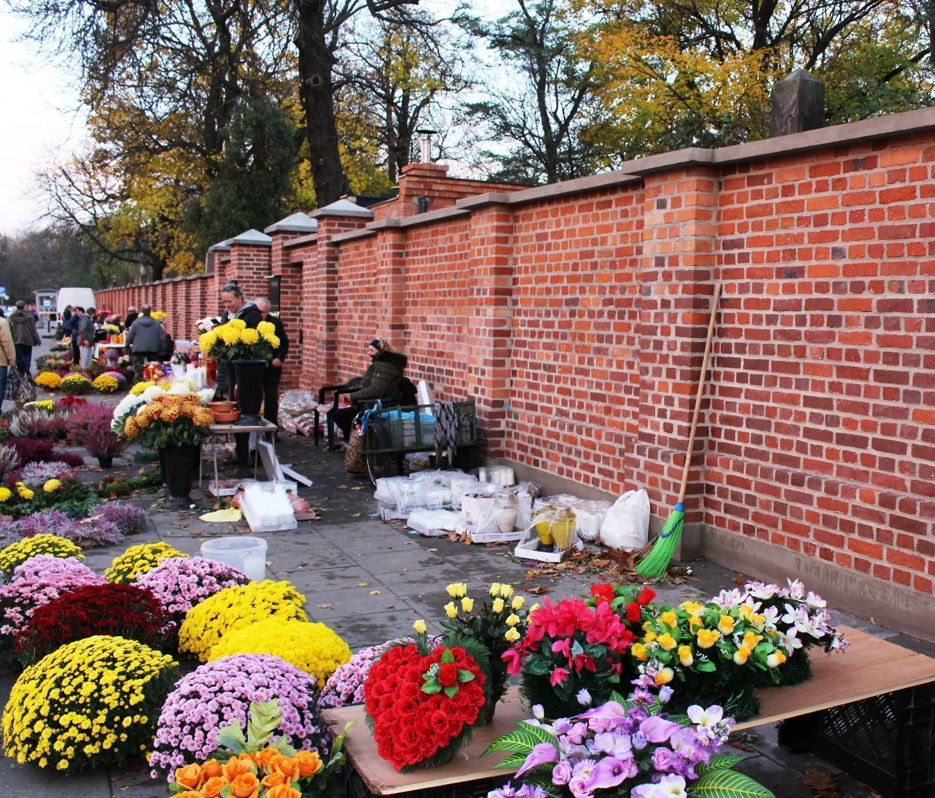 fiori cimitero monumentale Powązki