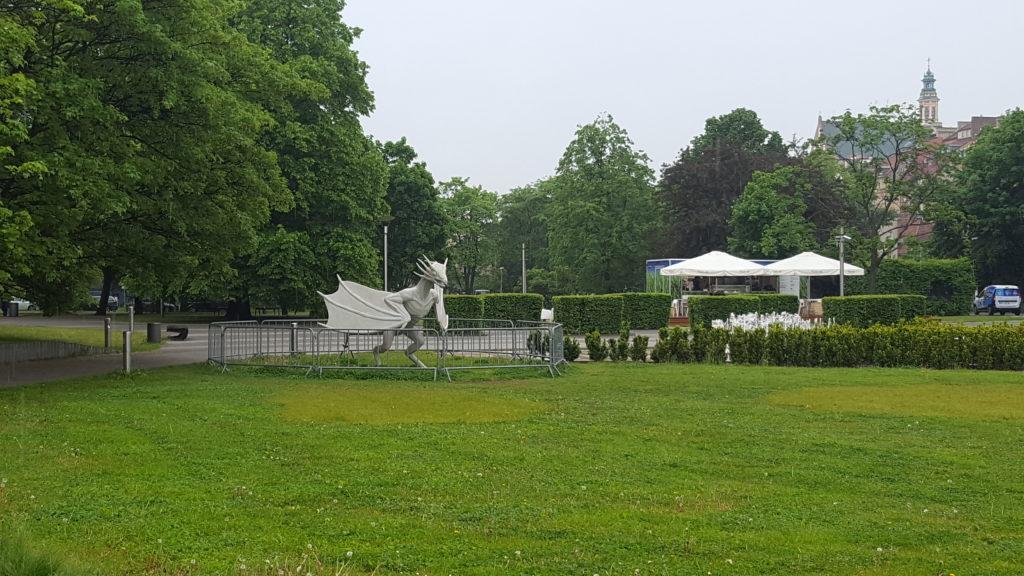Fontana Multimediale Varsavia Basilisco - Multimedialnym Parku Fontann