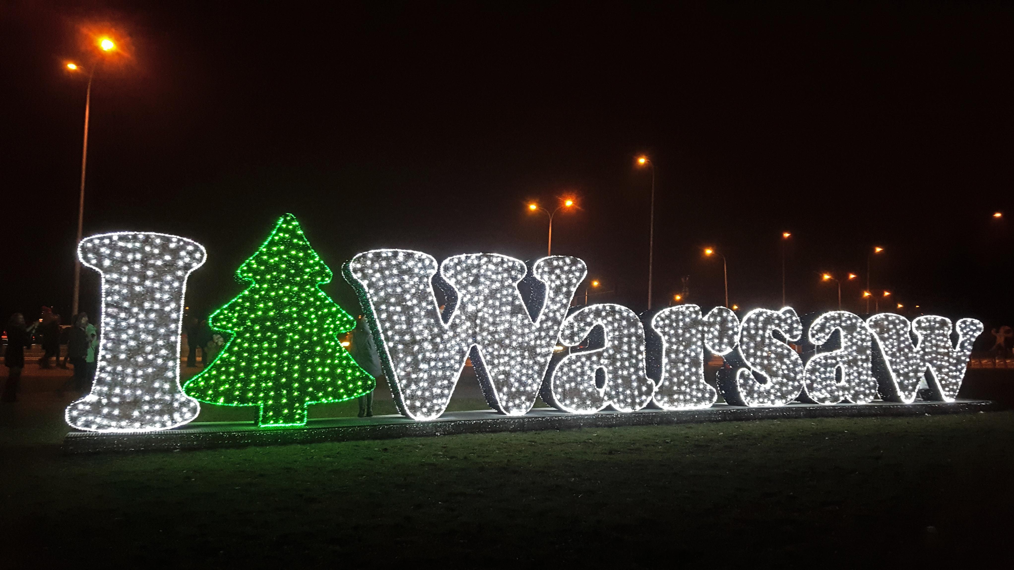 luminarie di natale a varsavia