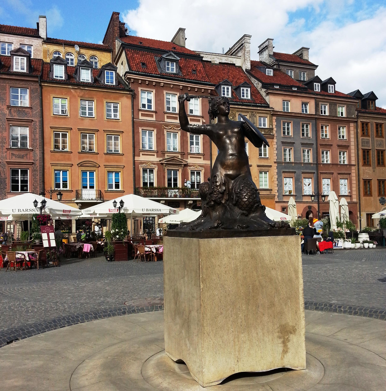 La sirena del centro storico di Varsavia