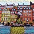 Sirena nel centro storico di Varsavia