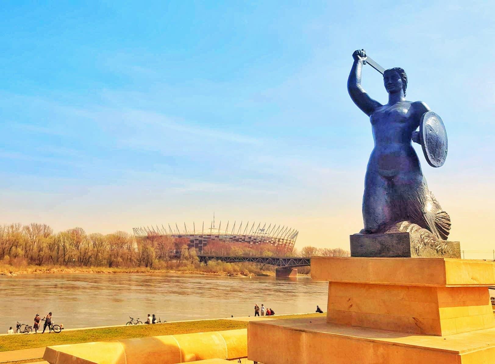 La sirena di Varsavia al ponte Świętokrzyski