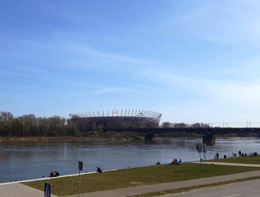 Stadio Nazionale Varsavia fiume Vistola