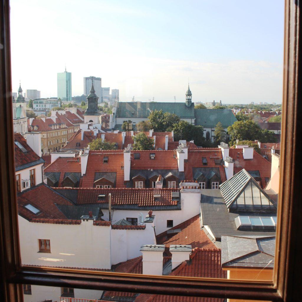Vista dei tetti del centro storico dal Museo di Varsavia
